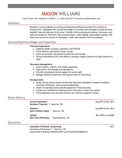 Accounting Clerk Resume Do You Have The Tools You Need To Get An Accounting And Finance