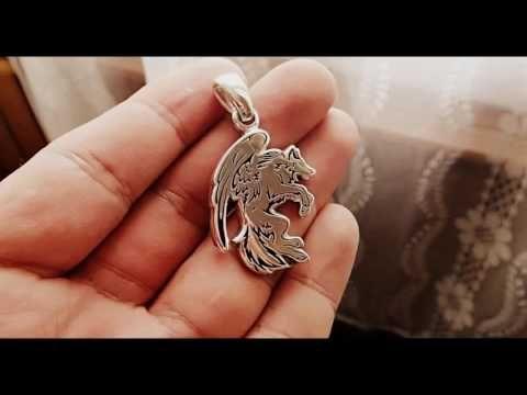 Кулон Волк с крыльями - YouTube   Кулон, Крылья, Волк