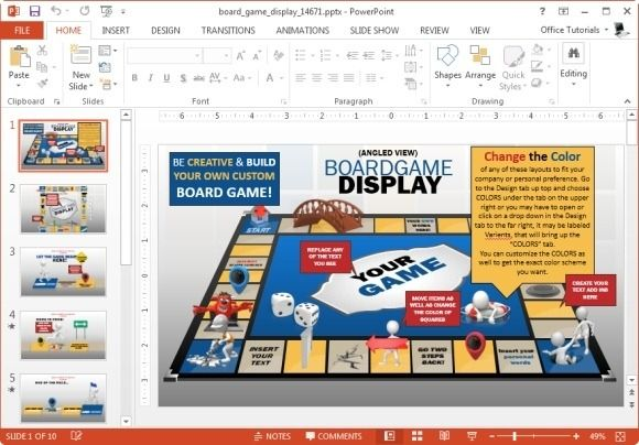 board game display template for powerpoint