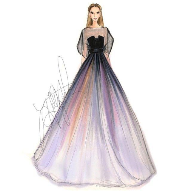 An Elie Saab #tbt #eliesaab #eliesaabcouture #fashionsketch #fashionblogger #fashionillustration #couture #runway #bostonblogger @eliebysaab @eliesaabworld