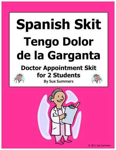 Spanish Skit Tengo Dolor de la Garganta Doctor