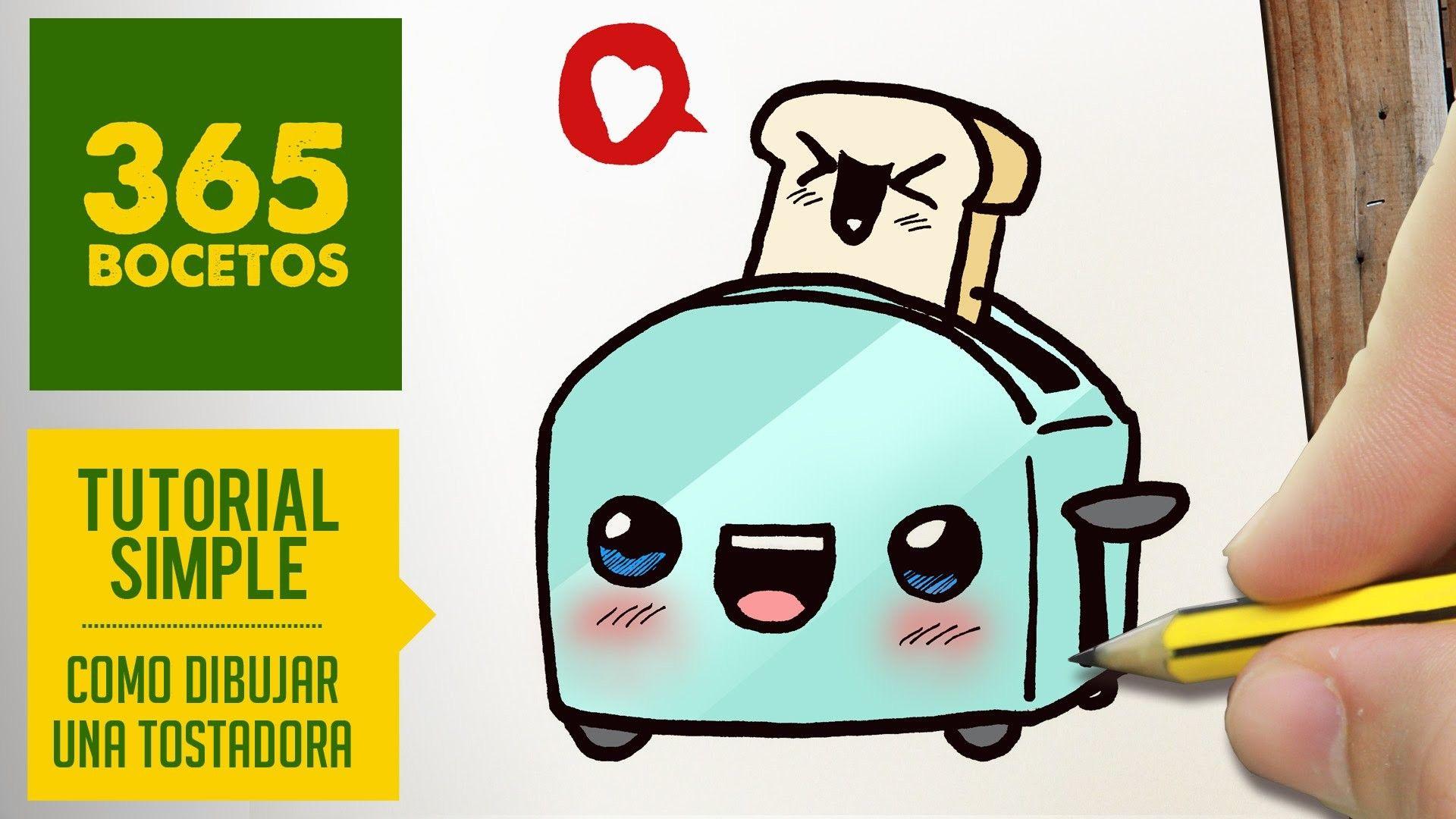 Como dibujar una tostadora kawaii paso a paso dibujos - Dibujos de cocina para colorear ...