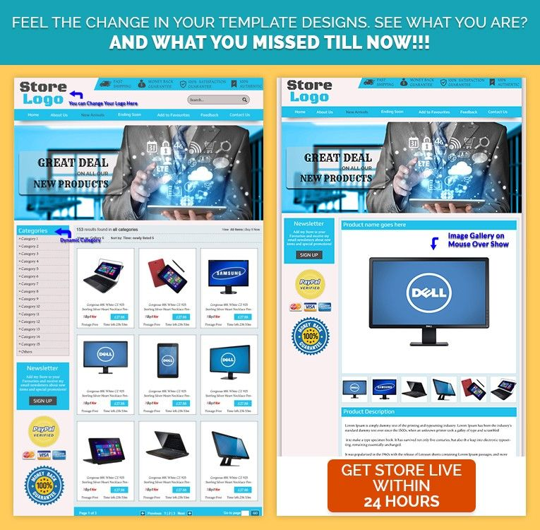 Custom eBay store template design for Electronic Gadgets  Latest