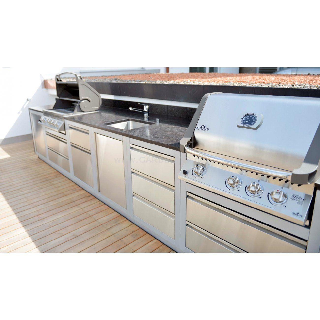 Outdoor kuche stahl for Sommerkuche selber bauen