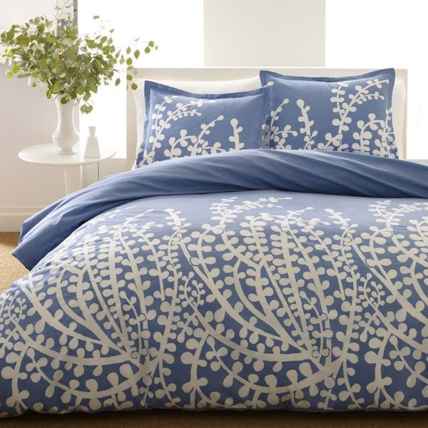 City Scene Branches French Blue 3-piece Duvet Set - Overstock™ Shopping - Great Deals on City Scene Duvet Covers