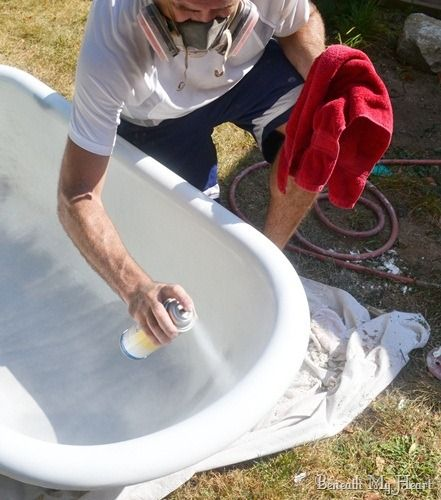 How To Refinish An Antique Claw Foot Tub Check Out My New Tub - Clawfoot tub restoration kit