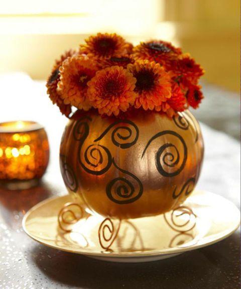 willkommen herbst 20 ideen f r deko mit k rbissen kupfer copper cobre bronze rose gold. Black Bedroom Furniture Sets. Home Design Ideas
