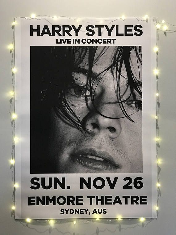 7548a3f8cf906 Harry Styles Live in Concert Custom Tour Poster   Harry styles in ...
