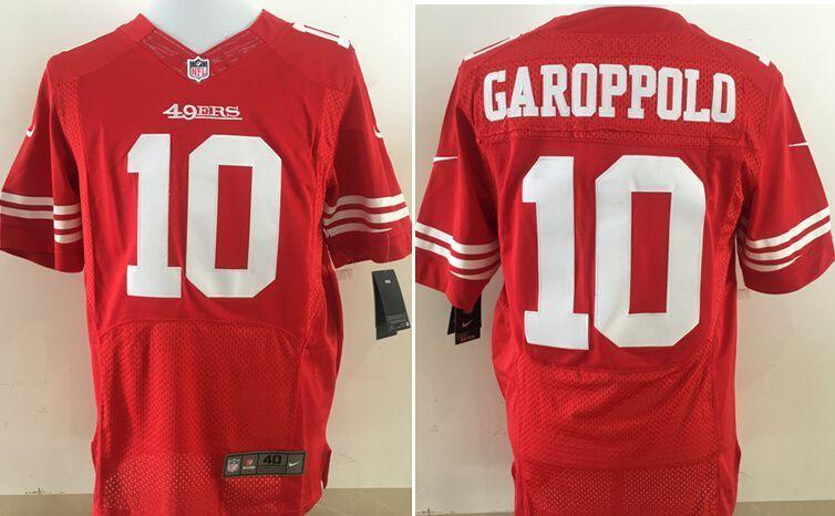 cheaper 61a1c 815e4 Men San Francisco 49ers 10 Garoppolo Red Nike Elite NFL ...