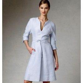 patroon linnen jurk