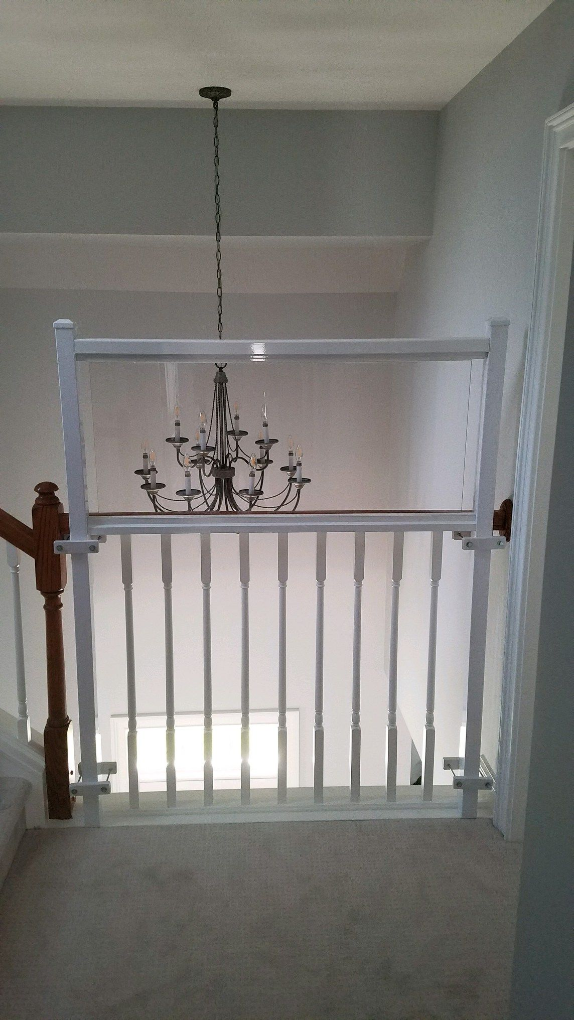 Banister safety Wall . My customer install this himself