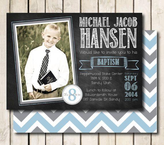 Lds Baptism Invitation Printable For Boys Chalkboard By Meckmom