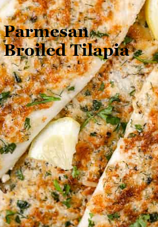 Parmesan Broiled Tilapia #easydinner images