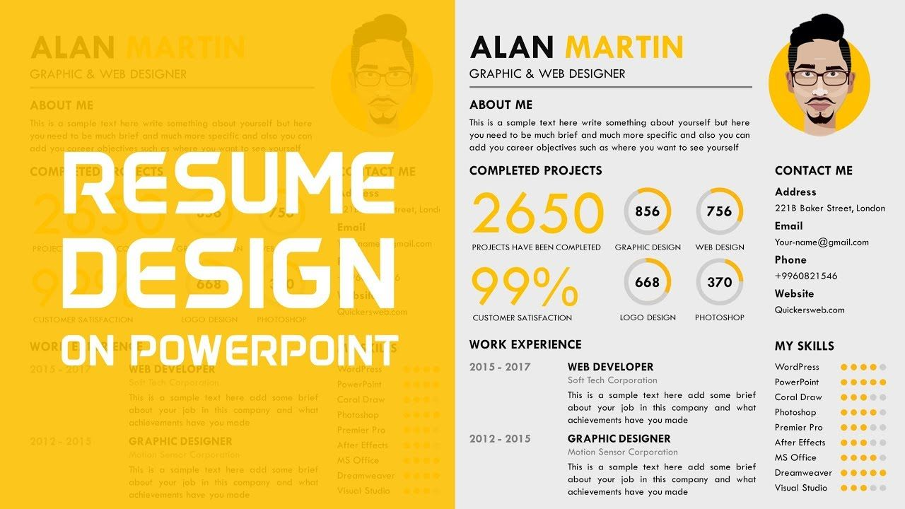 How to make a professional cv in powerpoint with images