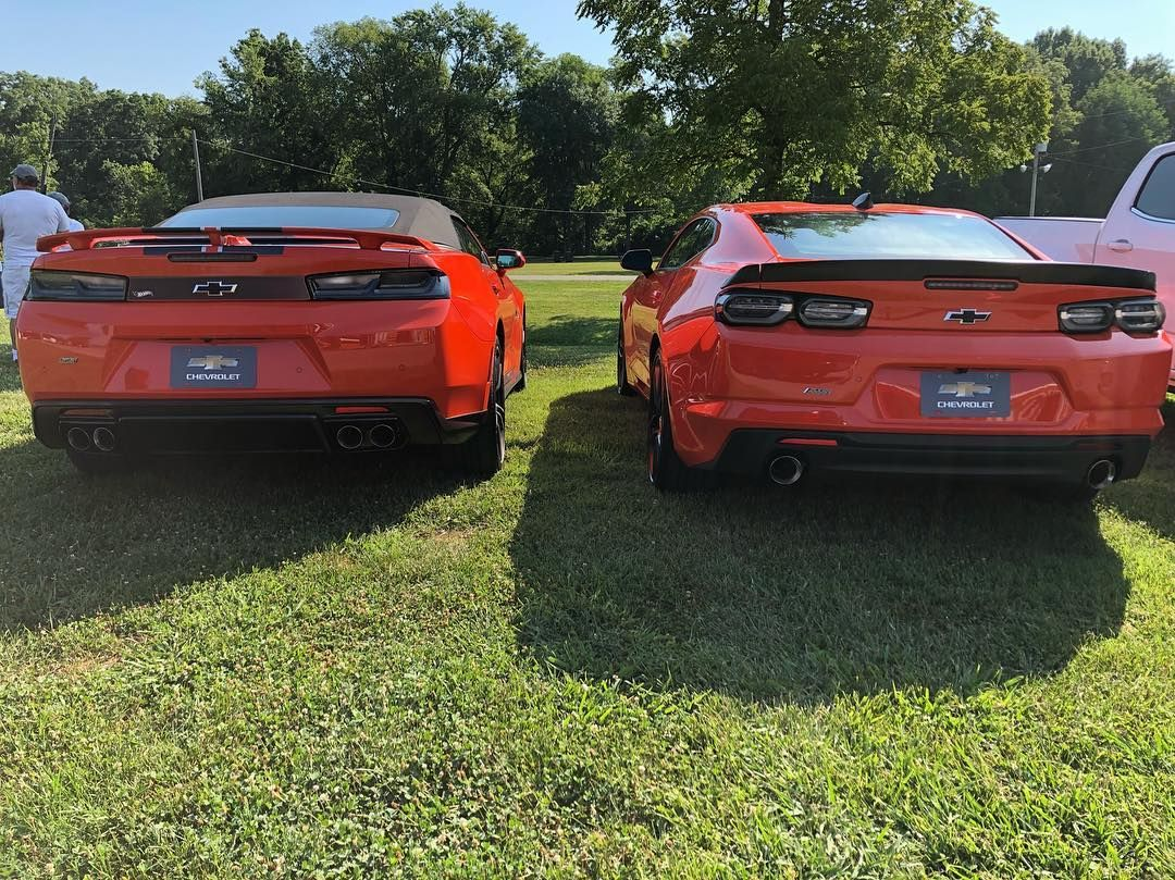 6th Gen Camaro Smoked Taillights On The Crush Orange Bowling Green Parking Lot Party Instagram