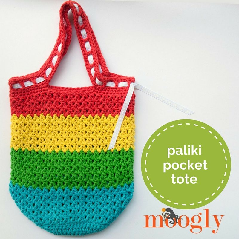 Paliki Pocket Tote - free crochet pattern on Mooglyblog.com ...