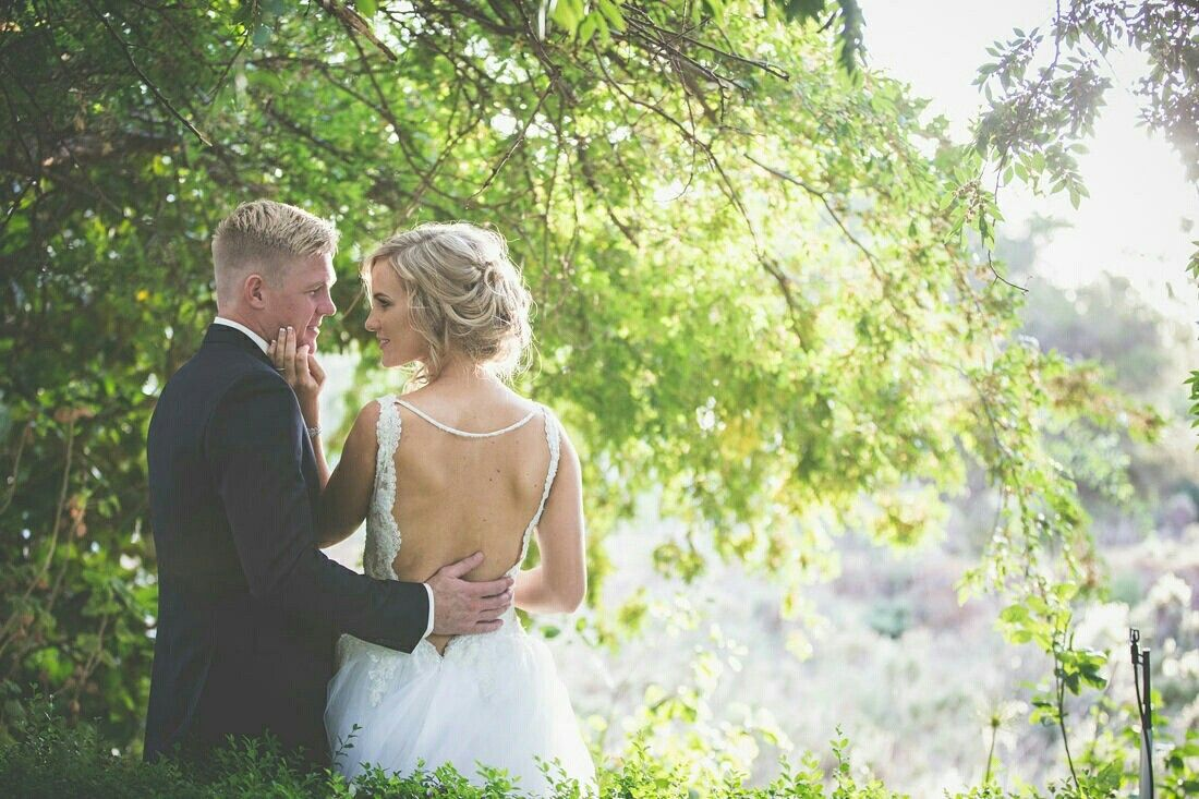 Backless wedding gown | wedding day | Pinterest