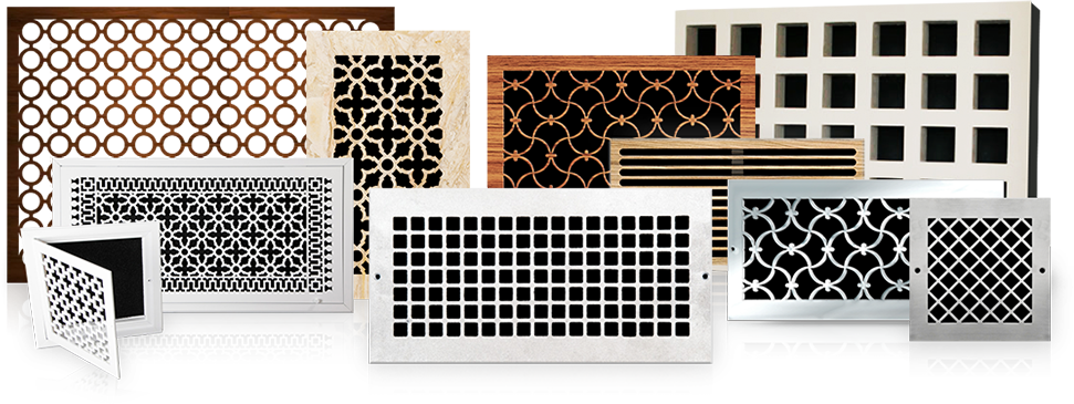 vent covers in pretty patterns Pacific Register Company