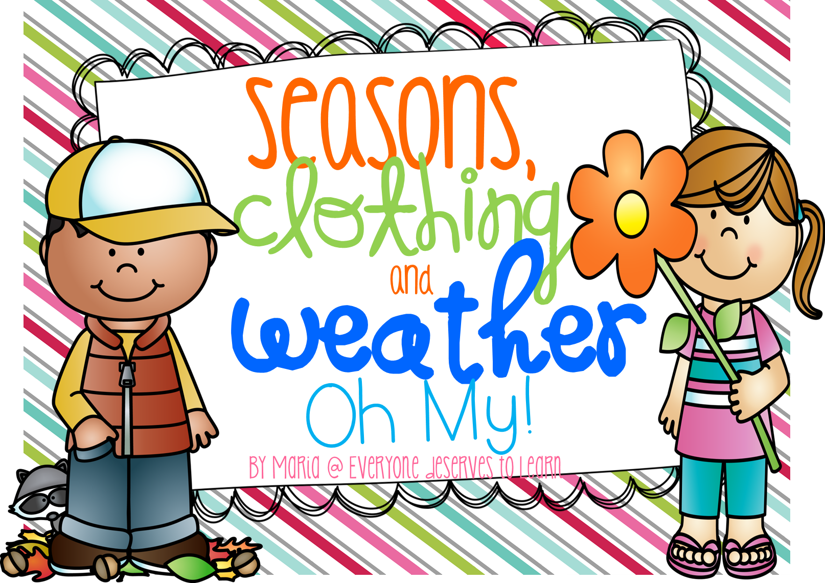 Seasons Clothing And Weather Posters Sorts And A Mini