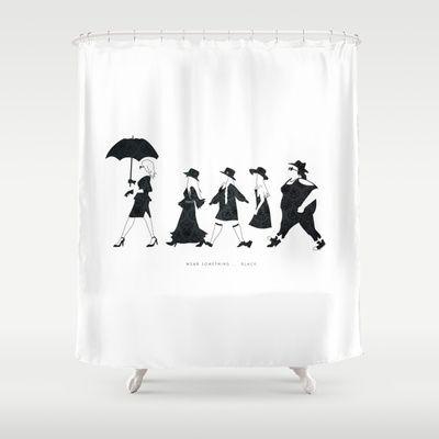 Wear Something Black American Horror Story Shower Curtain
