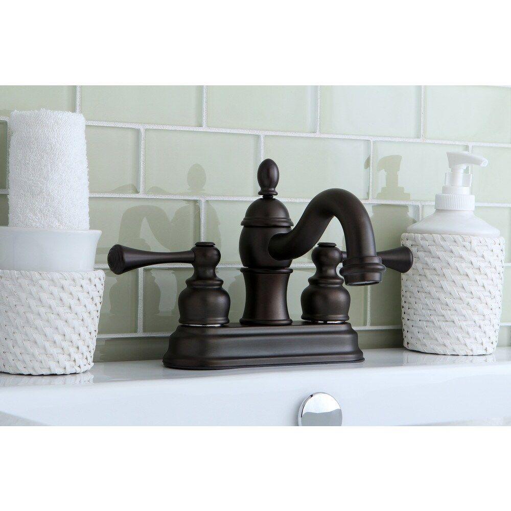 Photo of Victorian Spout Oil Rubbed Bronze Bathroom Faucet (Oil Rubbed Bronze), Kingston Brass