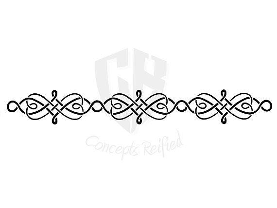 Download Instant Download - Celtic Knot Heart Border Stencil SVG ...