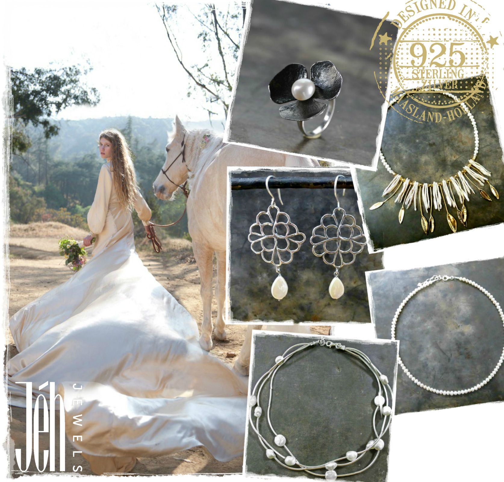 """De droom van elke vrouw """"een sprookjeshuwelijk in een prachtige jurk met schitterende juwelen van Jéh Jewels"""" http://buff.ly/17DINSo"""