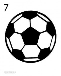 How To Draw A Soccer Ball Step 7 Soccer Ball Soccer Ball
