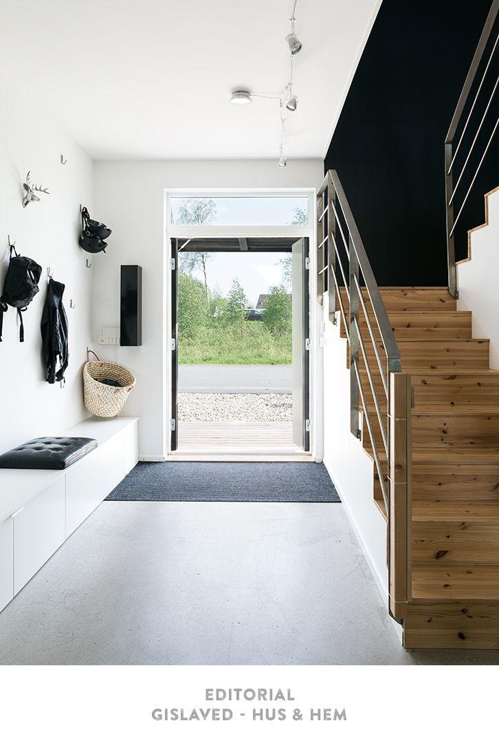 Une entrée lumineuse ! #design #maison http://www.m-habitat.fr ...