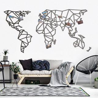 version xxl de notre planisphere murale en m tal. Black Bedroom Furniture Sets. Home Design Ideas