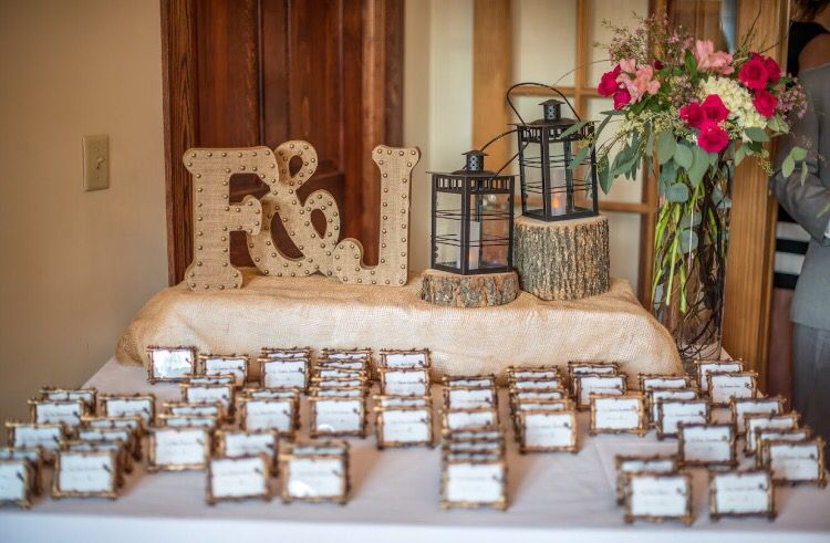 Rustic Branch Place Cards/ Frame Favors