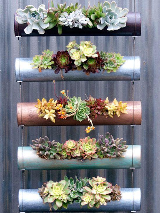 hoy te quiero compartir algunas imagenes con ideas para tu jardin vertical se que te sern de mucha ayuda te llenaran de ideas tu imaginacin - Jardines Verticales Caseros