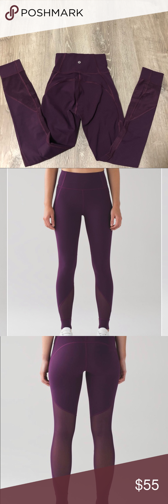 c1d06a1a3d Lululemon Hot Like Agni Pant in Darkest Magenta Size 2 Luxtreme material  with cute and stretchy