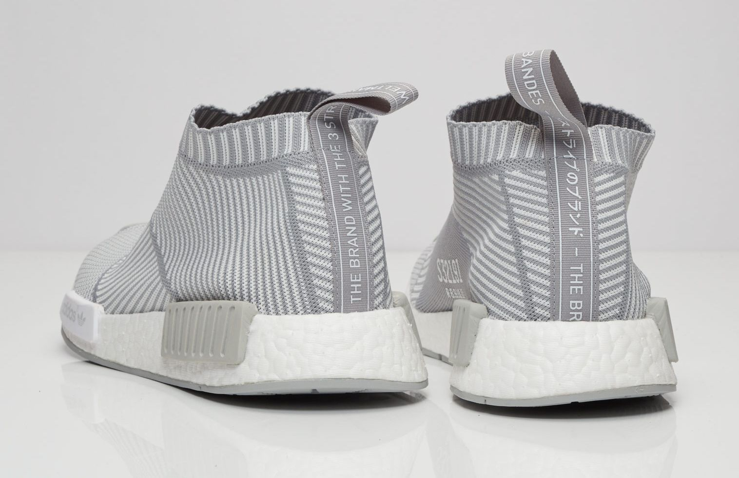 ed110287b Adidas NMD City Sock Grey White Heel