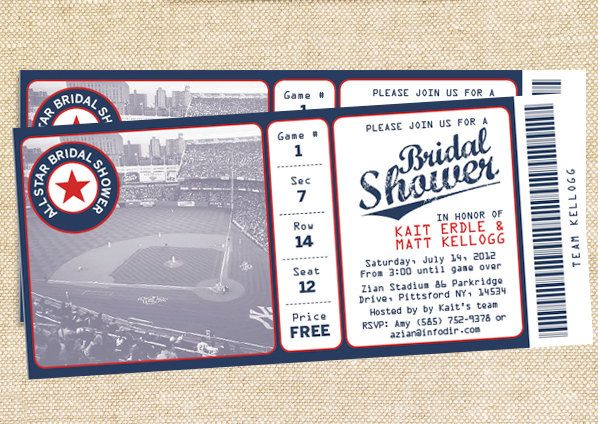 baseball bridal shower invitations set of 35 4375 via etsy
