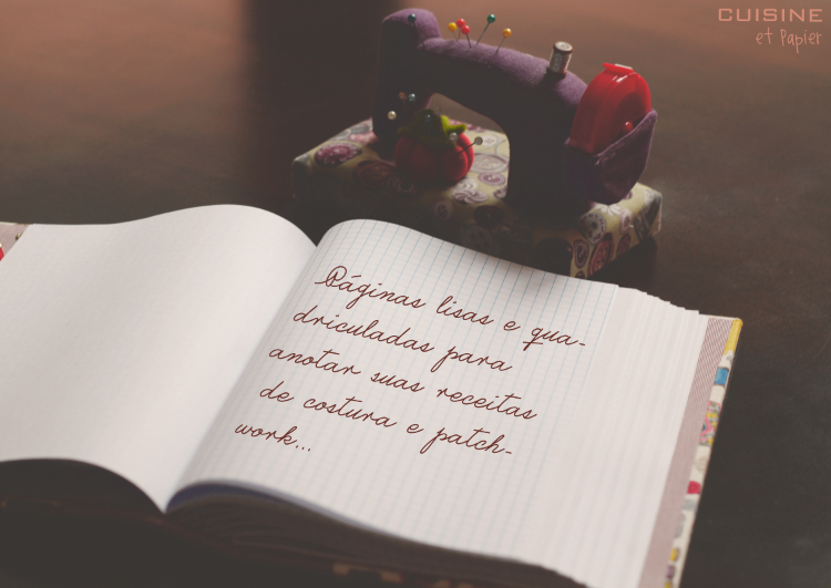 Páginas lisas e quadriculadas para anotar suas receitas de costura e patchwork...#cuisineetpapier #sewingbook