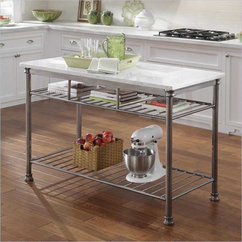 Home Styles The Orleans Kitchen Island Powder Coated Steel