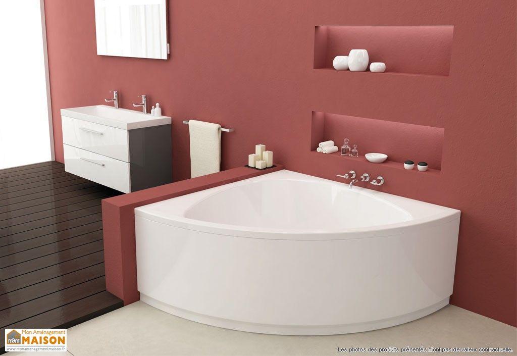 baignoire d angle recherche google maison pinterest salle de bains id e sdb et salle. Black Bedroom Furniture Sets. Home Design Ideas