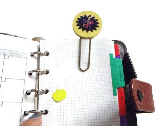 clip planner comics yellow organizer bookmark school art journal book christmas clip nice office clip planner book kawaii lasoffittadiste