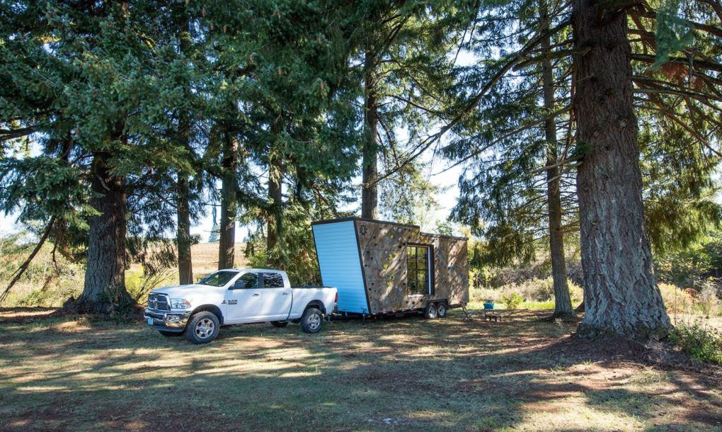 Rock Climbing Walls Cover This Tiny Home Built For Adventure Lovers