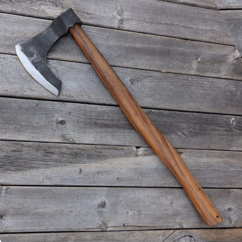 Hand Forged Scandinavian Stoic Viking Bearded Axe Etsy In 2020 Bearded Axe Viking Beard Blacksmithing