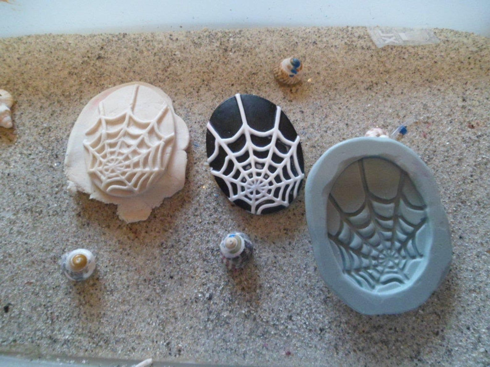 Gothic wepam fimo silicone mold
