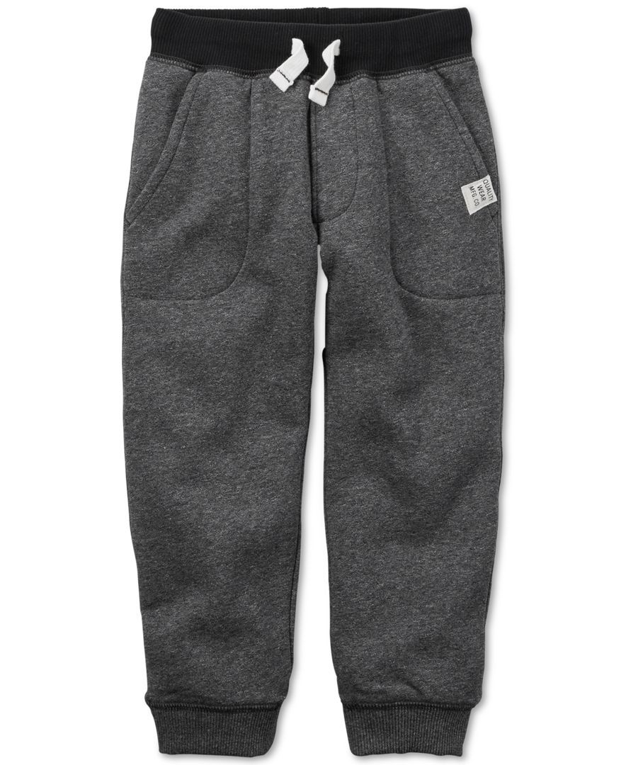 Joggers are the style of the youth. If you kid doesn't have pair, they probably won't some. Treat them to these boys joggers and sweatpants.