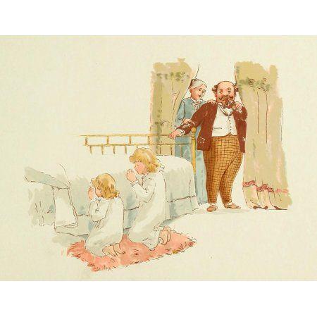 Vas Marriage a Failure 1894 Children Praying Canvas Art - Unknown (18 x 24)