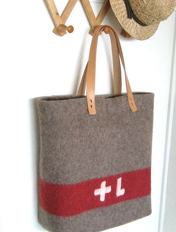 Swiss Army Blanket Bag- OOAK- XL Beach Bag -durable shopping Tote ...