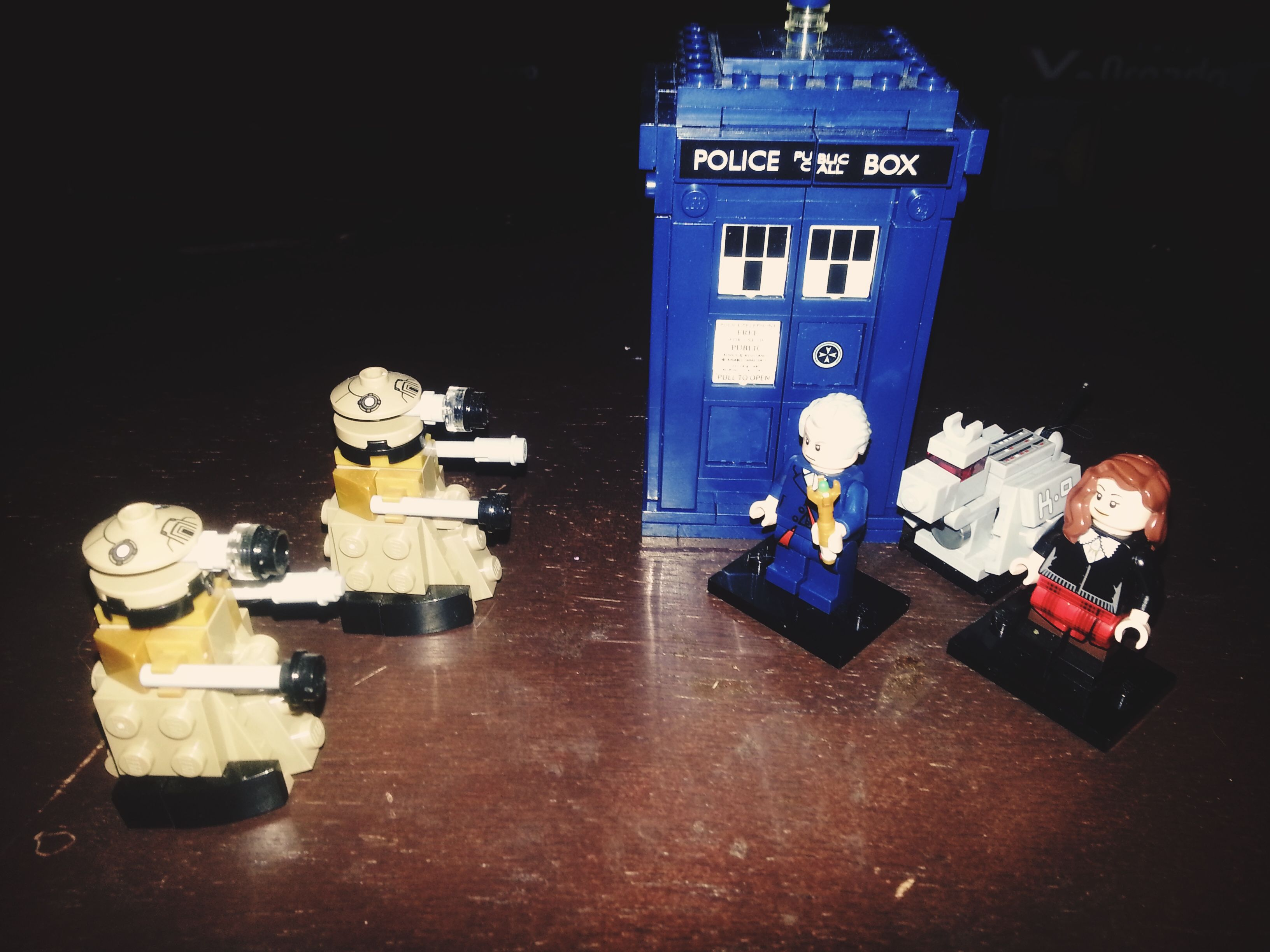 The outside of the TARDIS from Lego The model is a little large of proportion of the minifigure size but who cares it s still incredibly cool