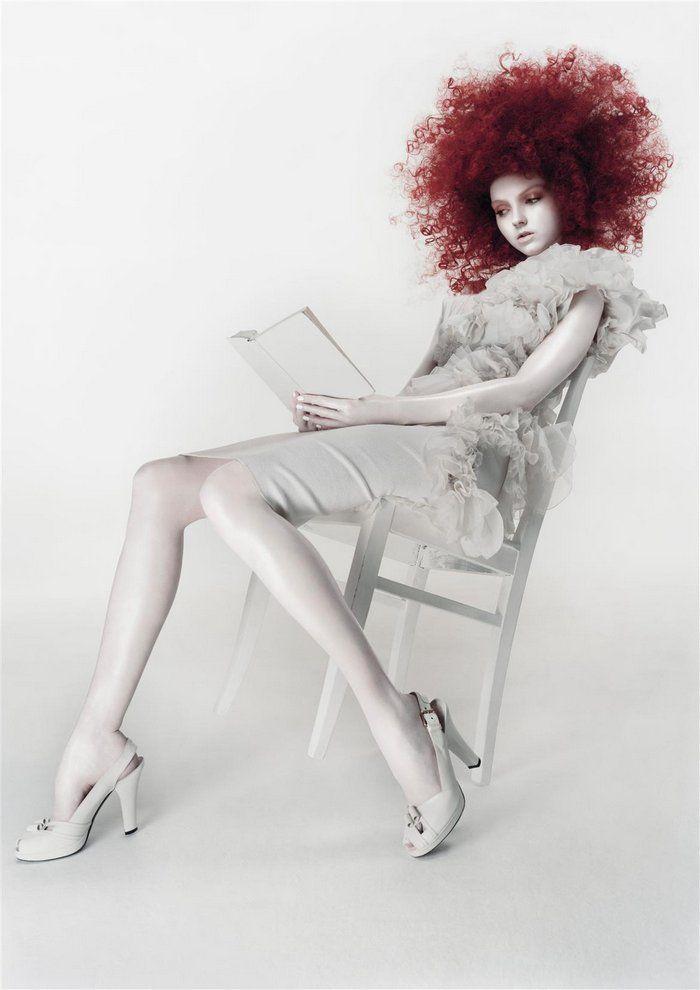"""White Dreams"" | Model: Lily Cole, Photographer: Sølve Sundsbø, Numéro Italia, 2005"