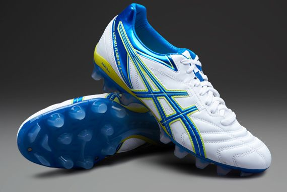 buy online 55de4 6775f asics Football Boots - asics Lethal Flash Ds 3 It - Soccer Cleats -  White-Blue-Neon Yellow