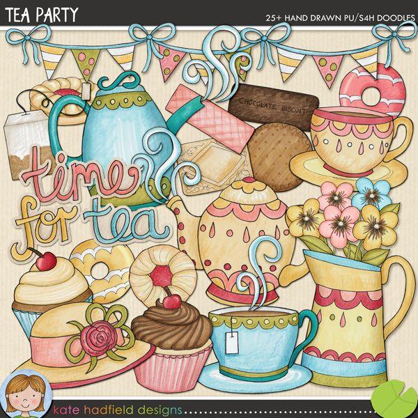 The Lilypad :: Element Packs :: Doodles :: Tea Party