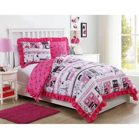 Paris Elisa Comforter Set Walmart Com Comforter Sets Cool Comforters Full Comforter Sets